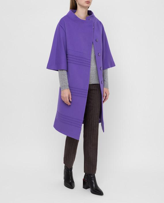 Фиолетовое пальто из шерсти hover