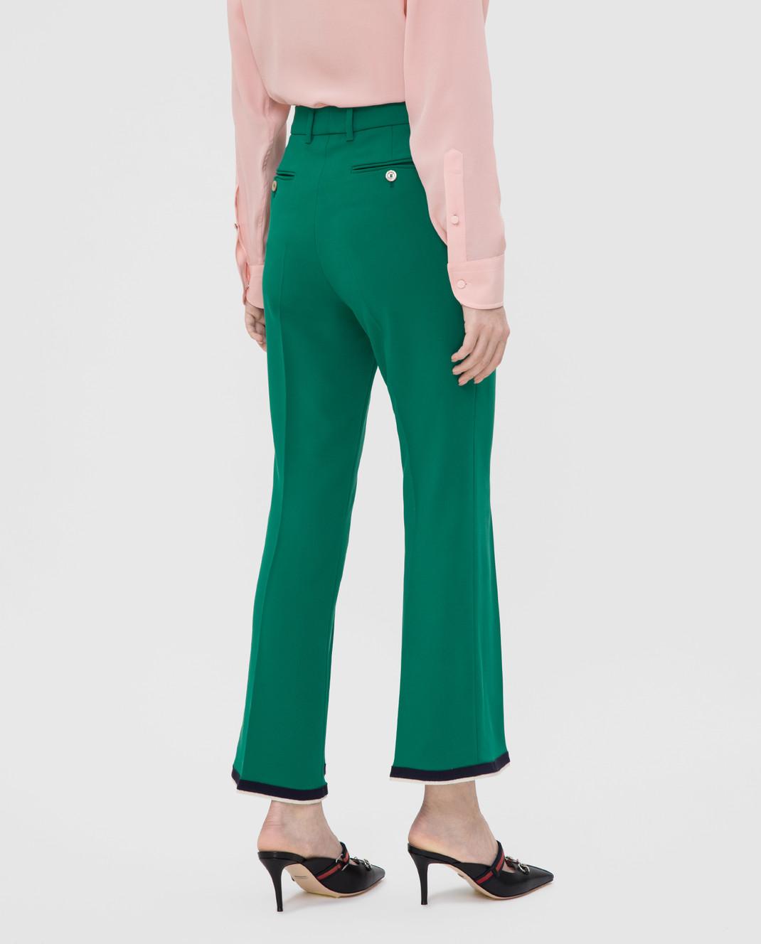 Gucci Зеленые брюки изображение 4