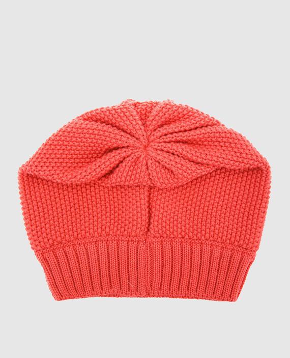 Детская коралловая шапка hover