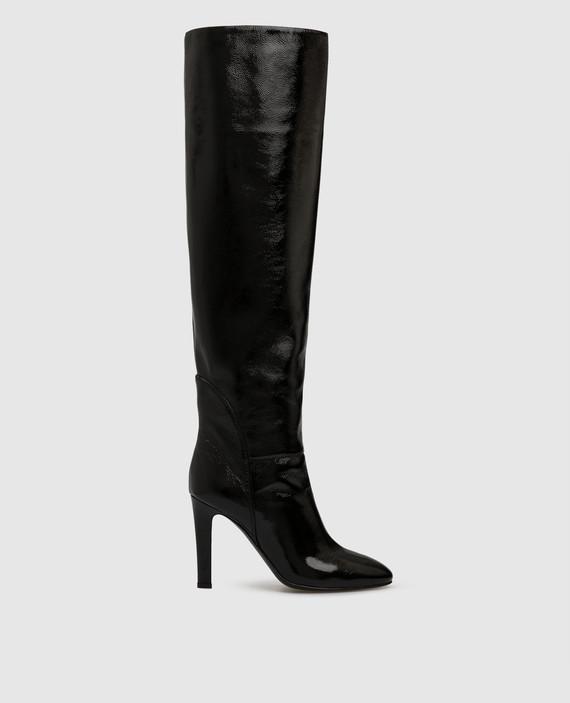 """Черные кожаные ботфорты """"Hattie"""""""