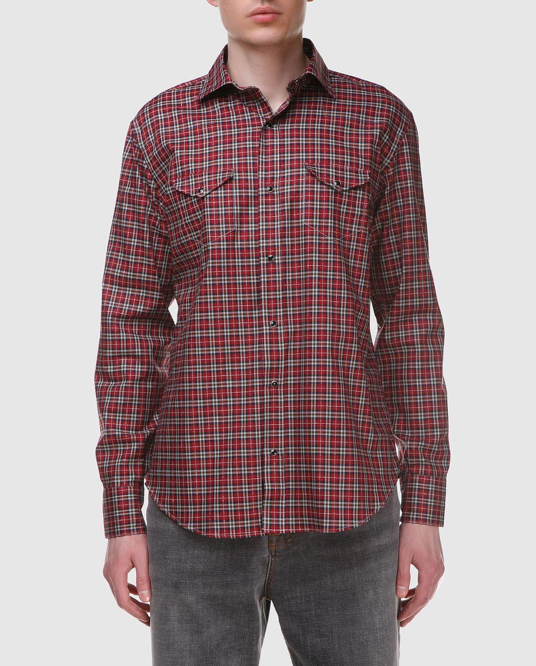 Eleventy Красная рубашка из египетского хлопка 979CA0056CAM24022 изображение 3