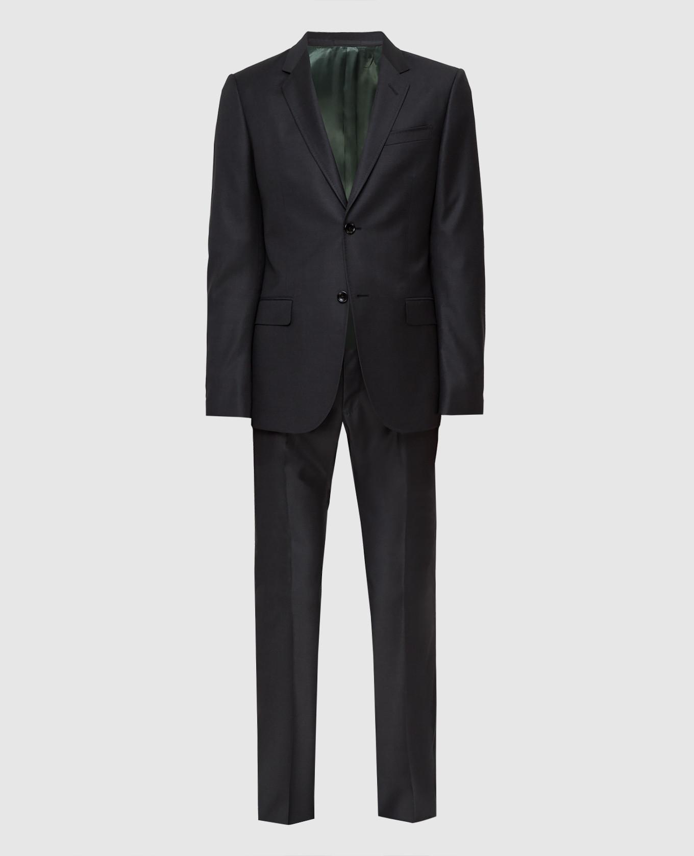 Черный костюм из шерсти