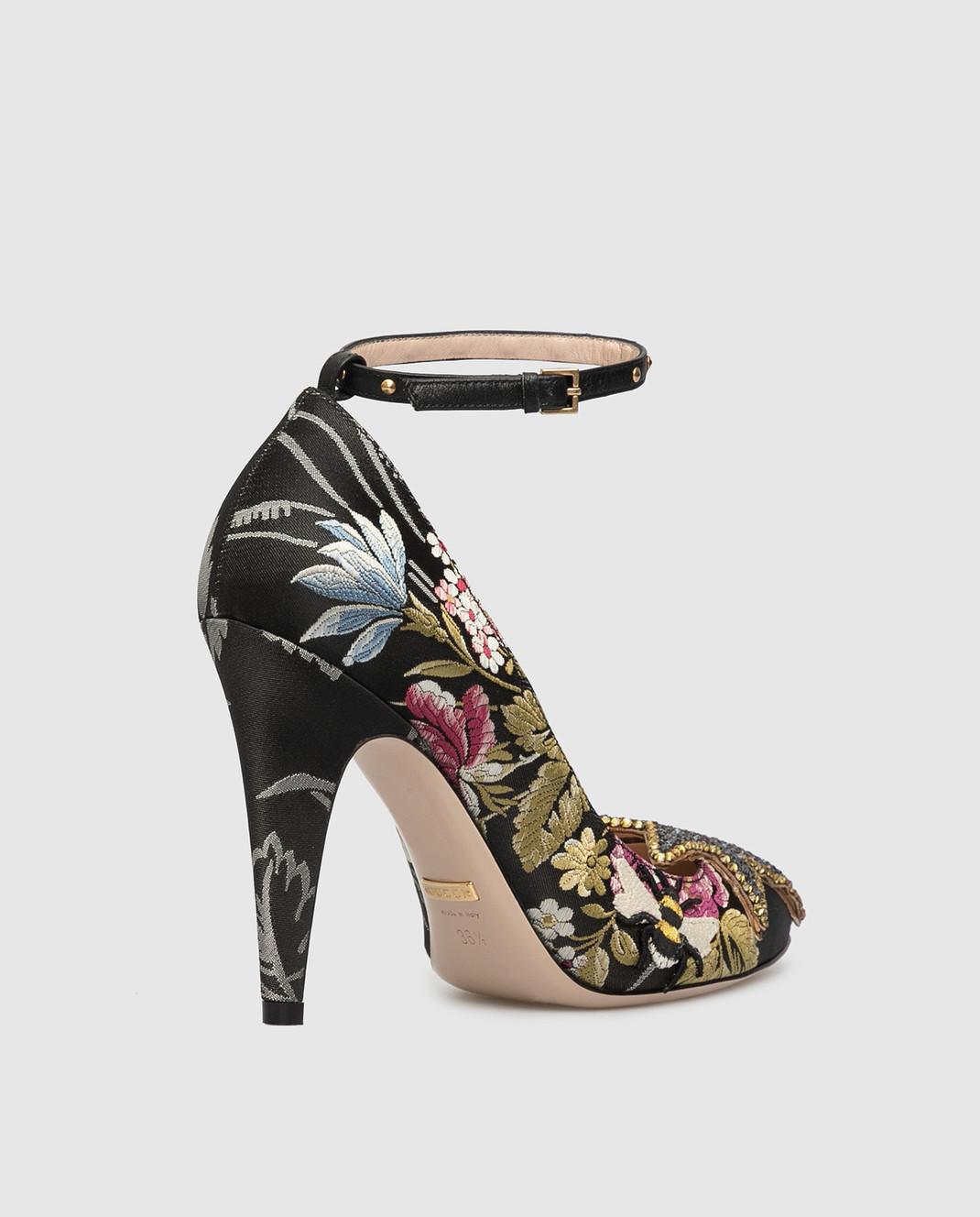 Gucci Черные туфли с кристаллами 434762 изображение 4