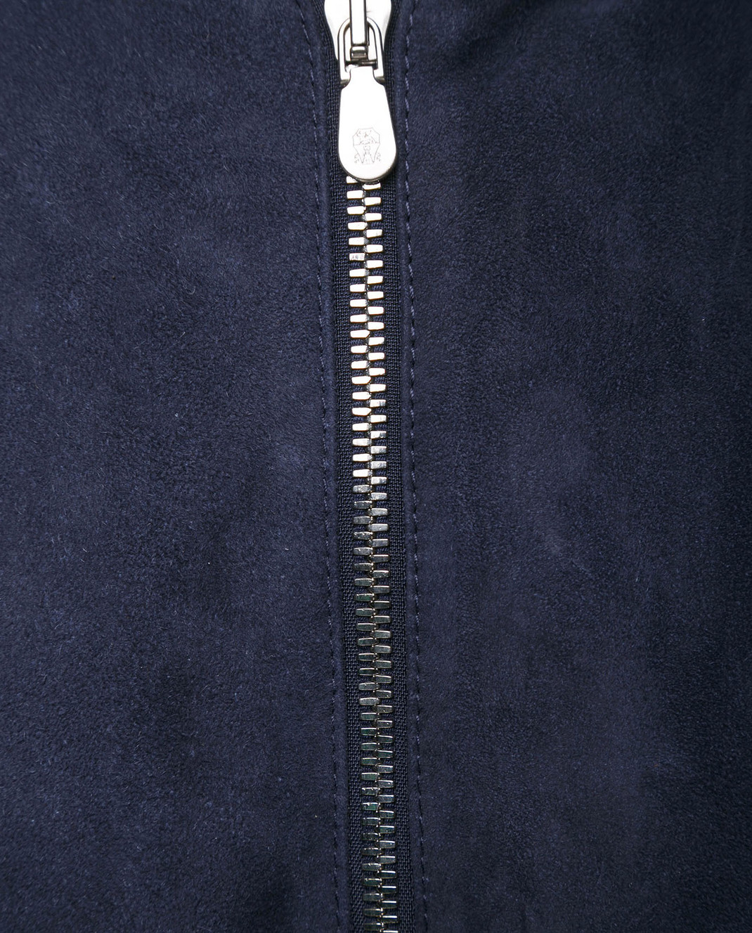 Brunello Cucinelli Синий замшевый бомбер изображение 5