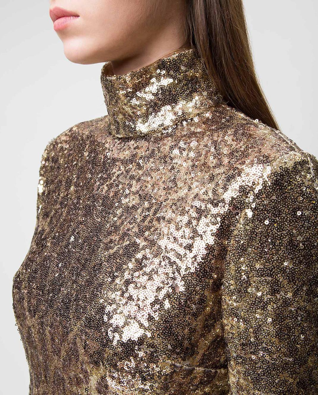 Dolce&Gabbana Золотистая блуза F72S3THSMTE изображение 5