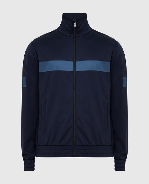 Темно-синяя спортивная кофта