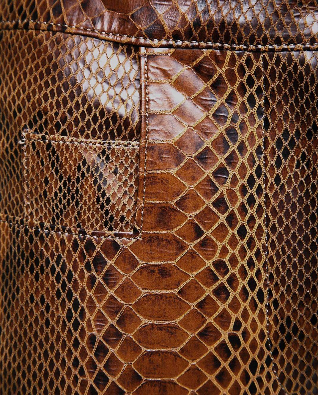 Balmain Коричневые кожаные брюки 115500 изображение 3