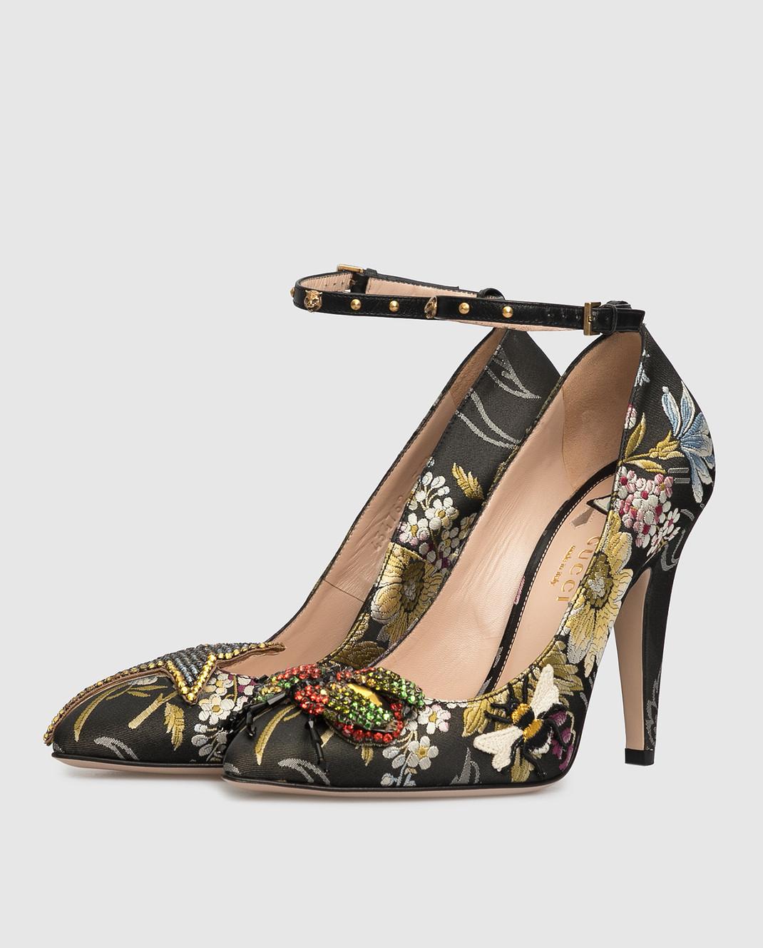 Gucci Черные туфли с кристаллами 434762 изображение 3