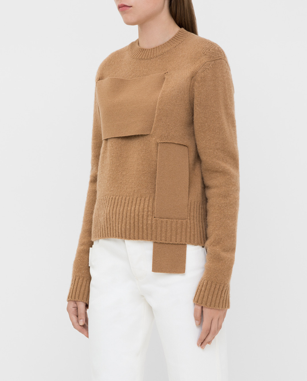 Bottega Veneta Бежевый свитер из шерсти изображение 3