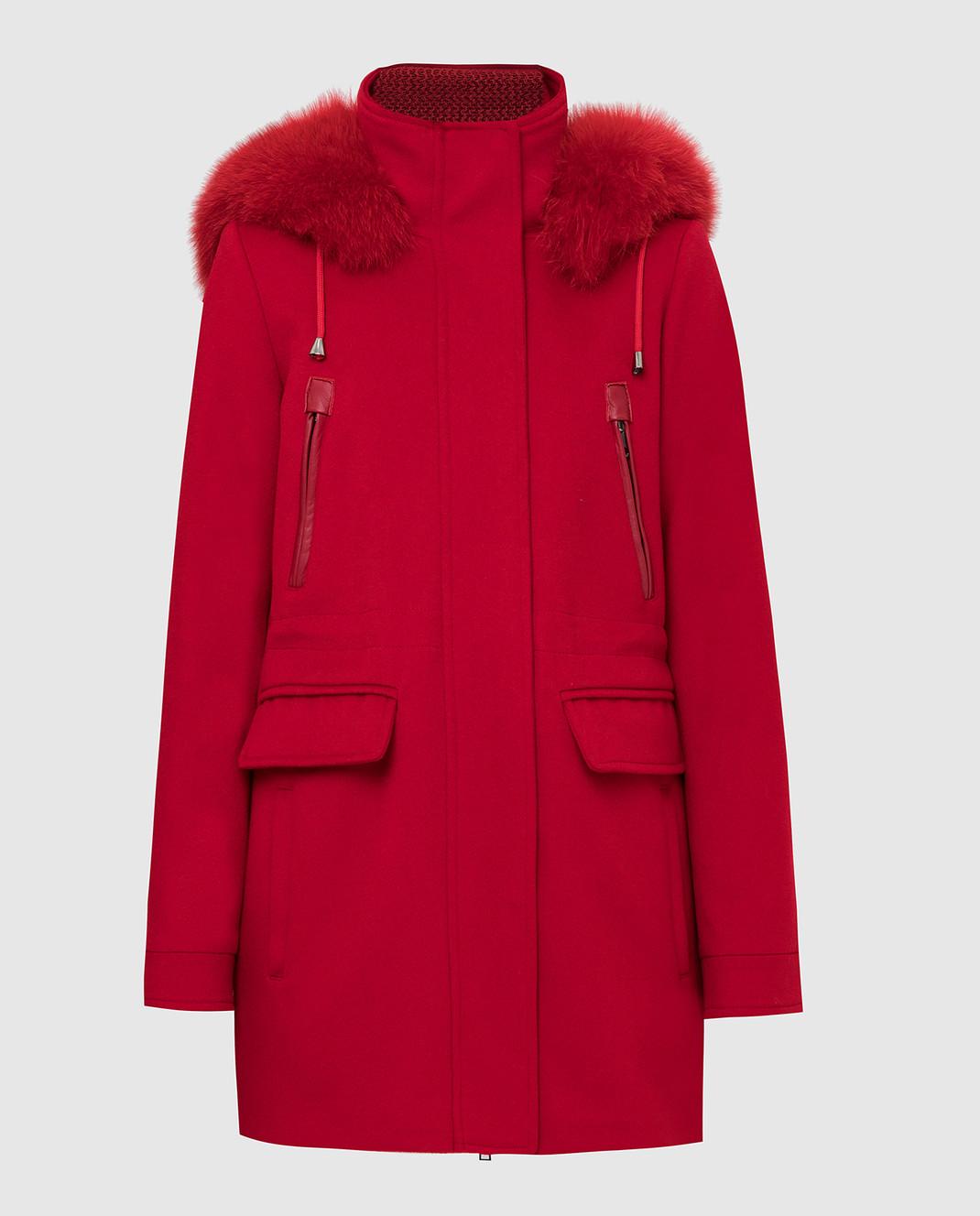 Heresis Красное пальто из шерсти изображение 1