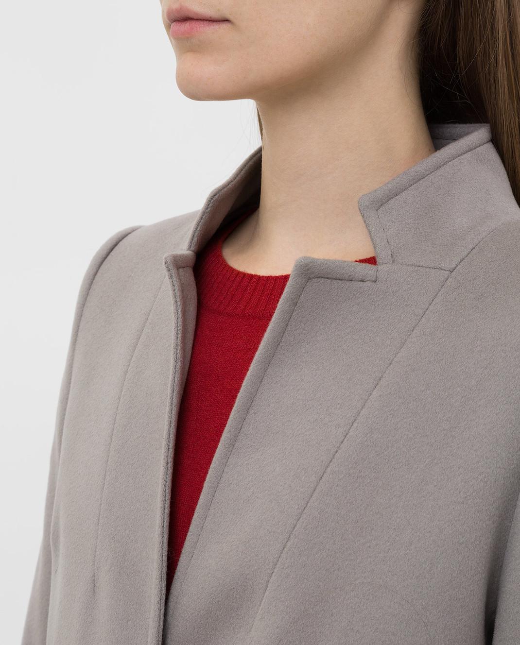 Heresis Серое пальто из шерсти изображение 5