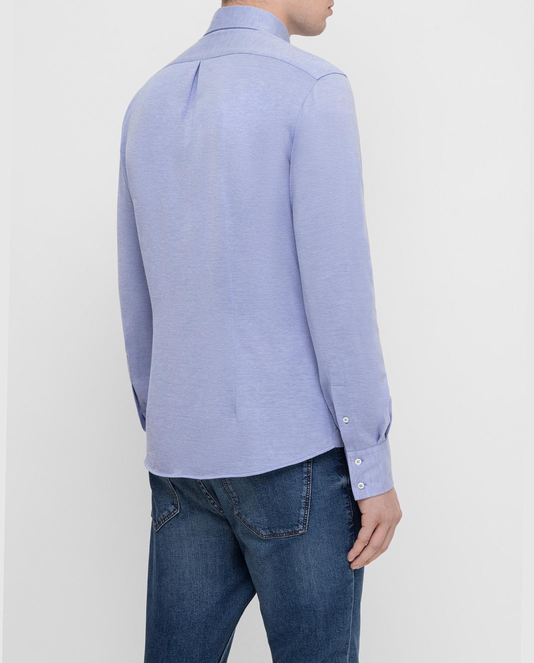 Brunello Cucinelli Голубая рубашка MTS406676 изображение 4