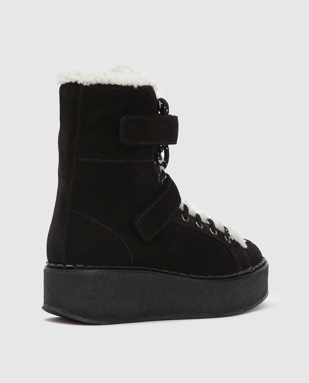 Moncler Черные замшевые ботинки 20482 изображение 4
