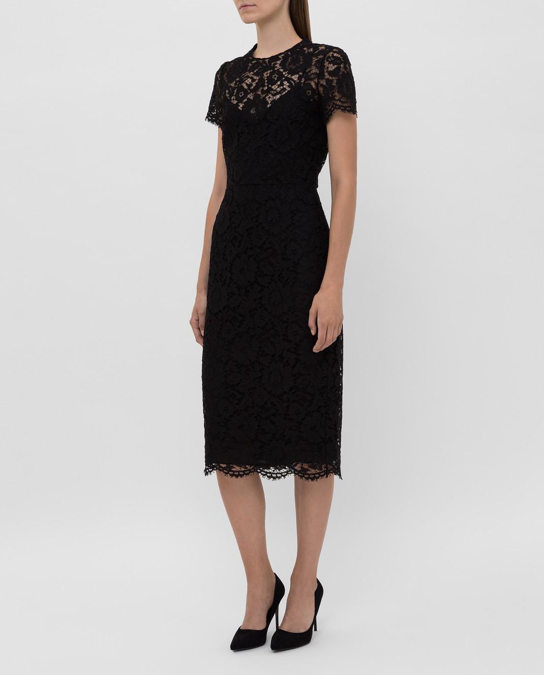 Valentino Черное платье из кружева SB3VABP51EC изображение 3