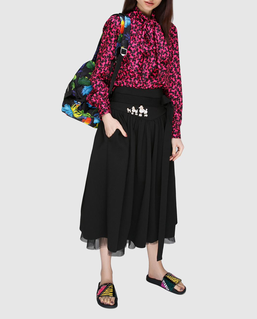 Marc Jacobs Малиновая блуза из шелка изображение 2