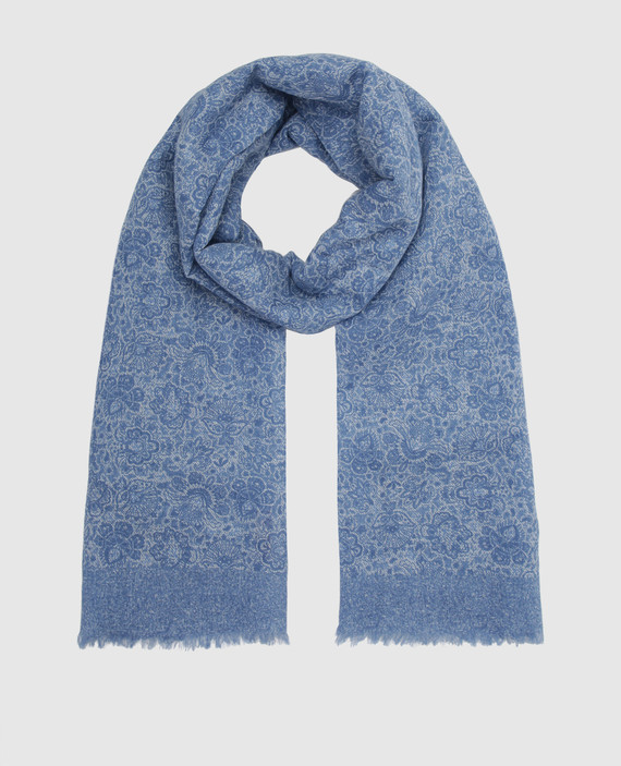 Синий шарф