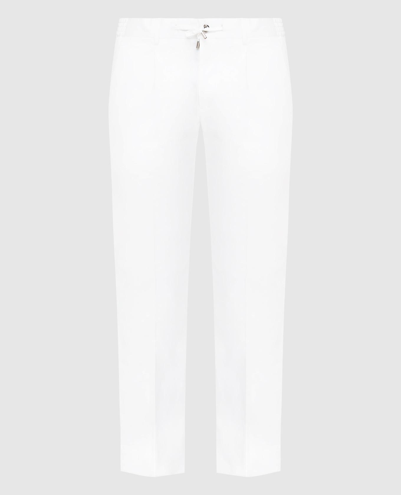 Белые брюки Stefano Ricci