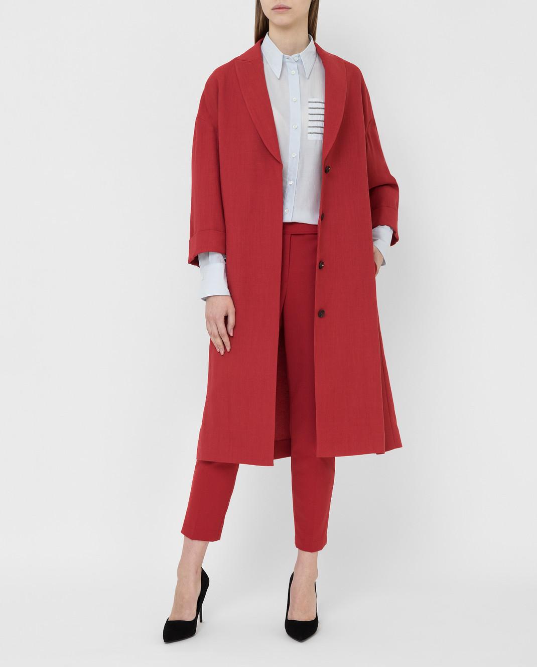 Brunello Cucinelli Красное пальто MH1269398 изображение 2