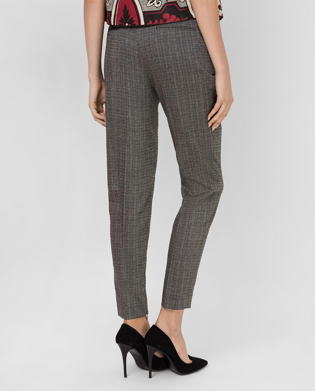 Saint Laurent Серые брюки из шерсти и мохера 502533Y083S изображение 4
