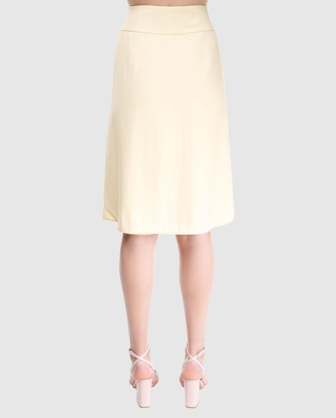 Prada Желтая юбка на запах изображение 4