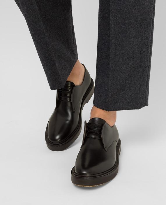Черные кожаные дерби hover