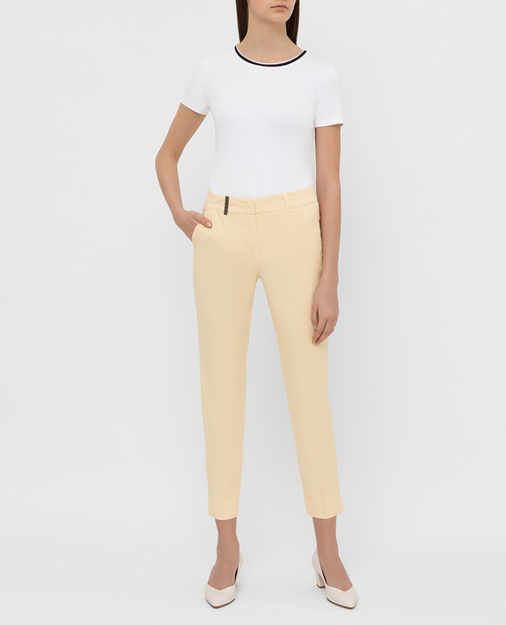 Светло-желтые брюки hover