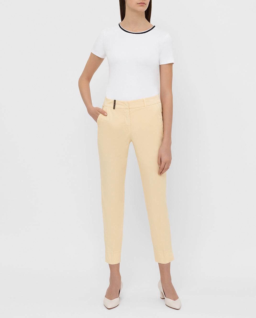 Peserico Светло-желтые брюки P04718T402477 изображение 2