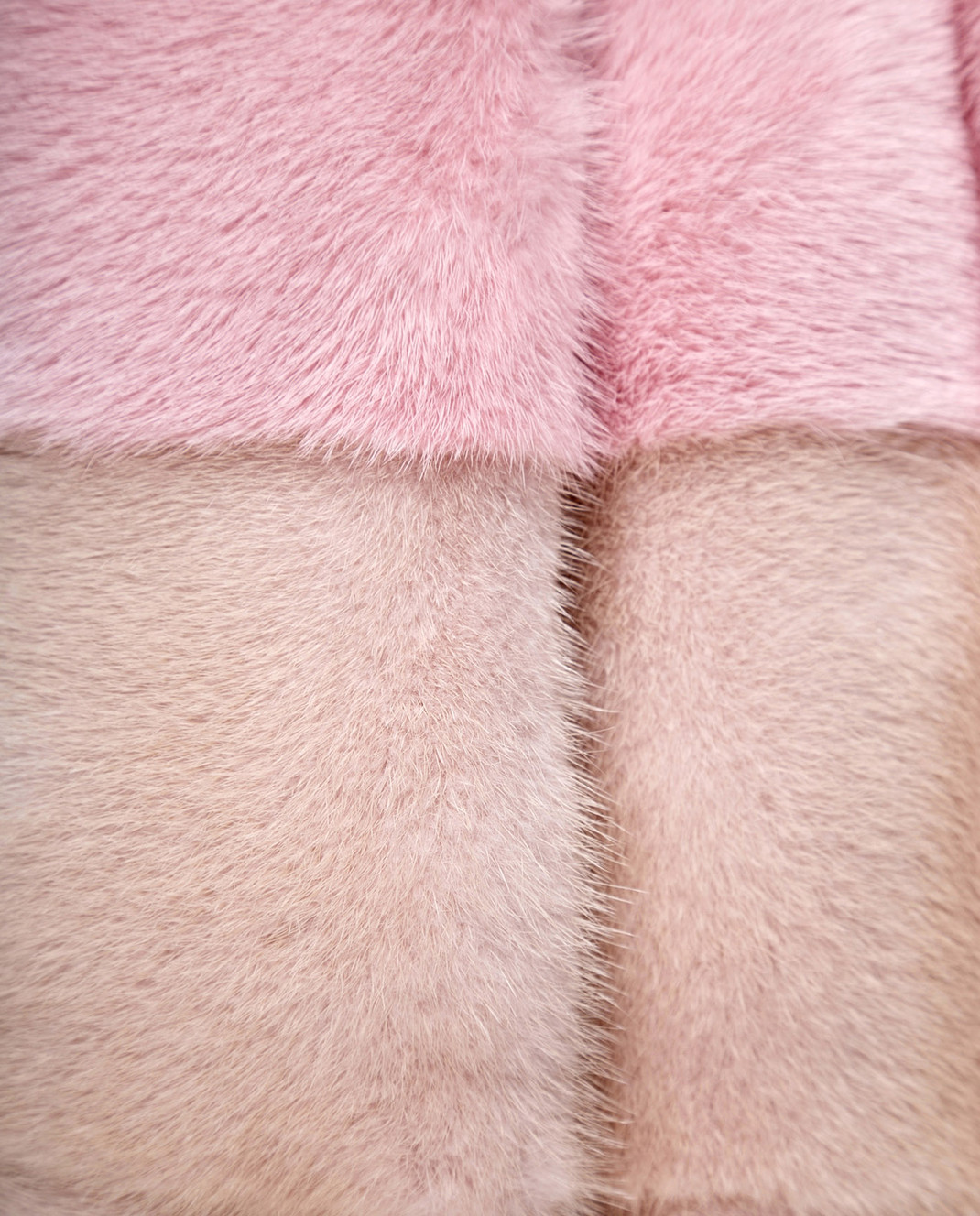 Florence Mode Розовая шуба из меха норки с поясом L1827WHITE изображение 5