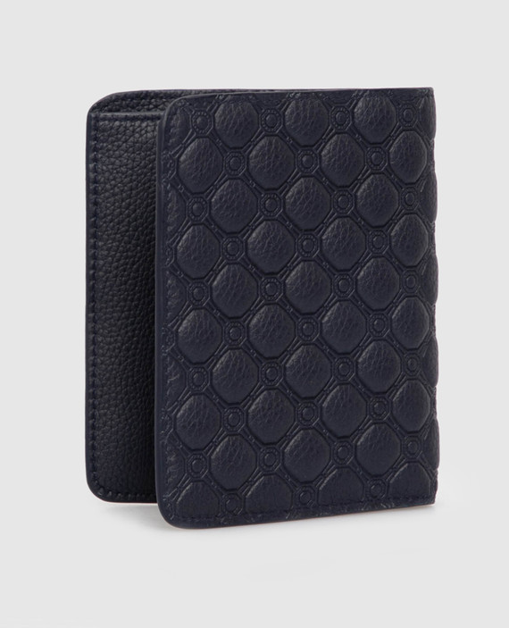 Темно-синий кожаный кошелек hover