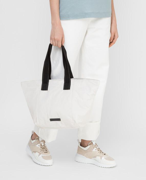 Белая сумка hover