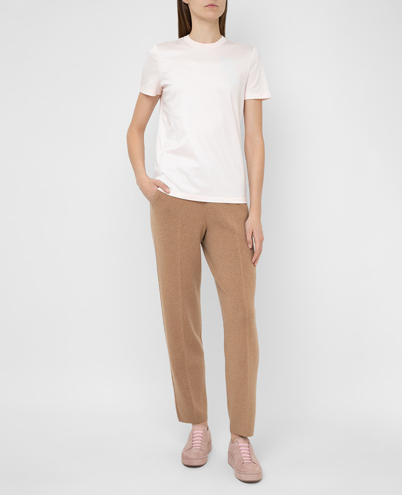 Бежевые брюки из кашемира hover