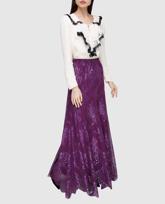 Фиолетовая юбка hover