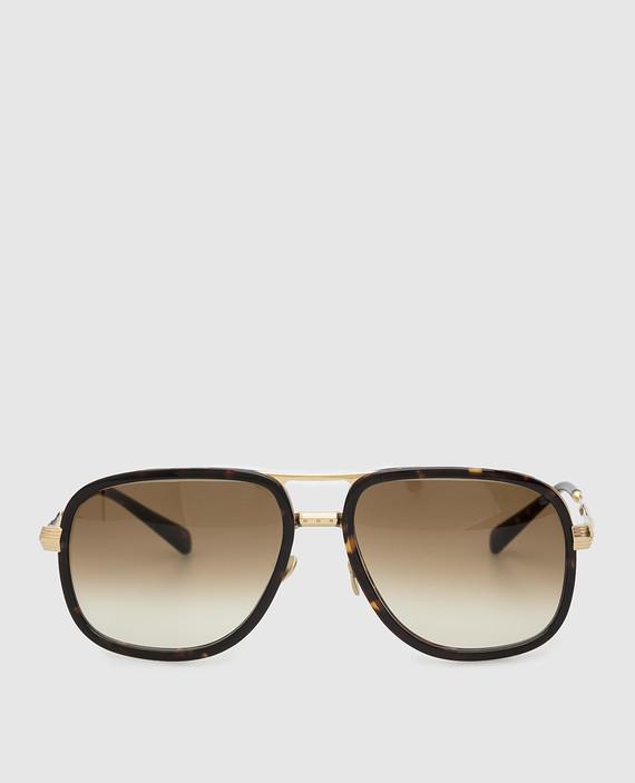 Золотистые солнцезащитные очки