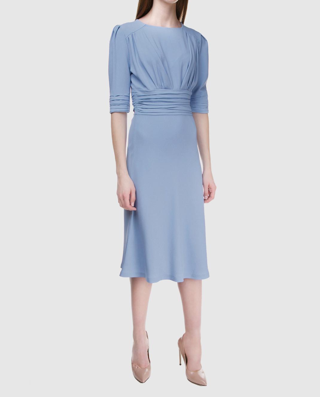 Ermanno Scervino Голубое платье D322Q313LHU изображение 2