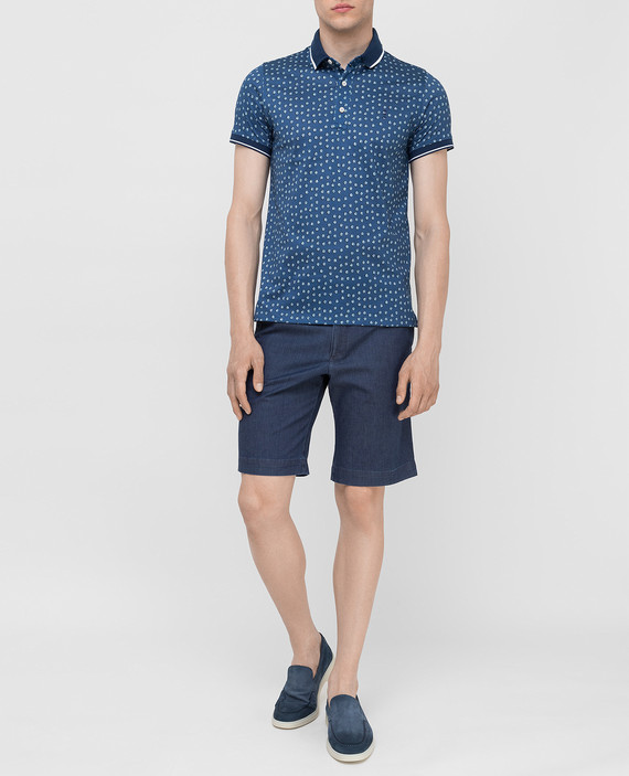 Темно-синие шорты hover