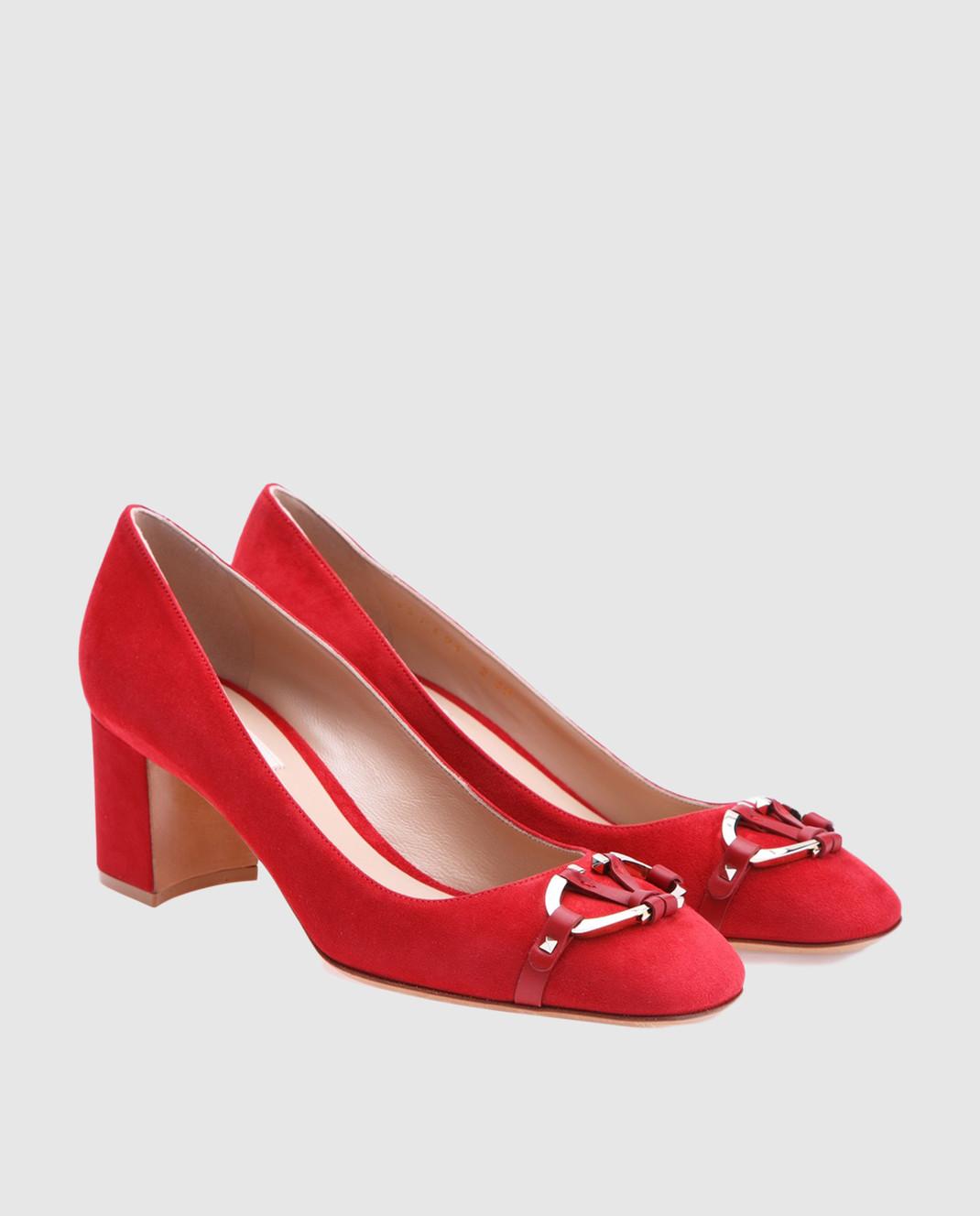 Valentino Красные туфли из замши изображение 2