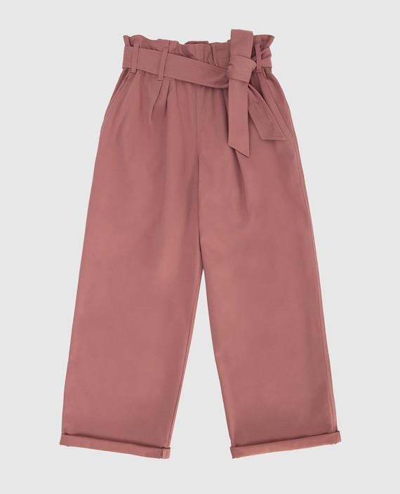 Детские розовые брюки