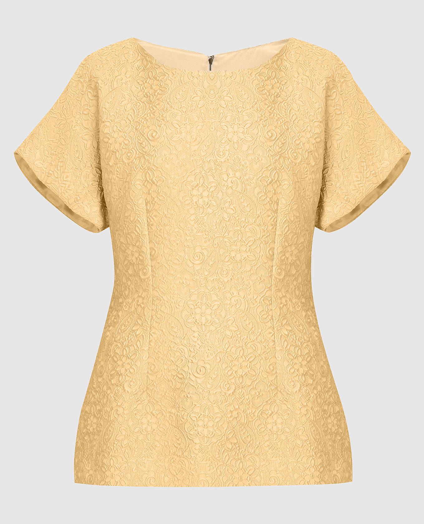 Желтая блуза Dolce&Gabbana