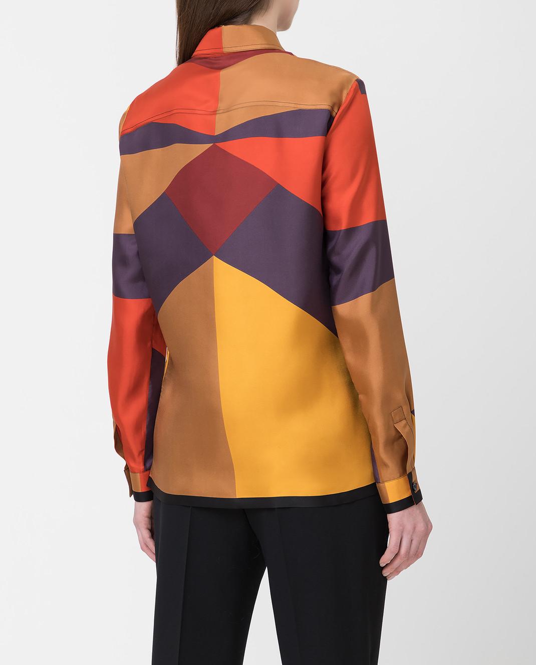 Bottega Veneta Коричневая рубашка из шелка 538599 изображение 4