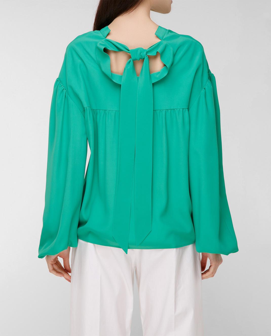 Balenciaga Зеленая блуза 456948TID36 изображение 4