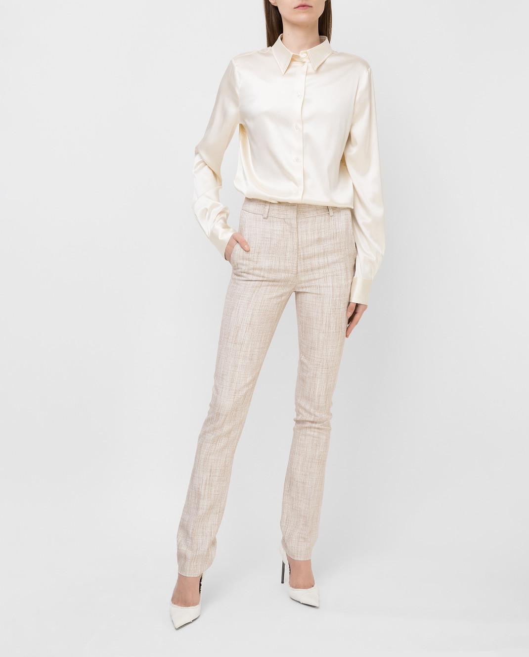Victoria Beckham Бежевые брюки TRSLM2402 изображение 2
