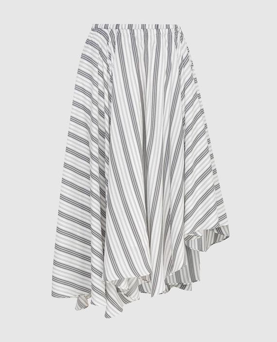 Белая юбка из шелка