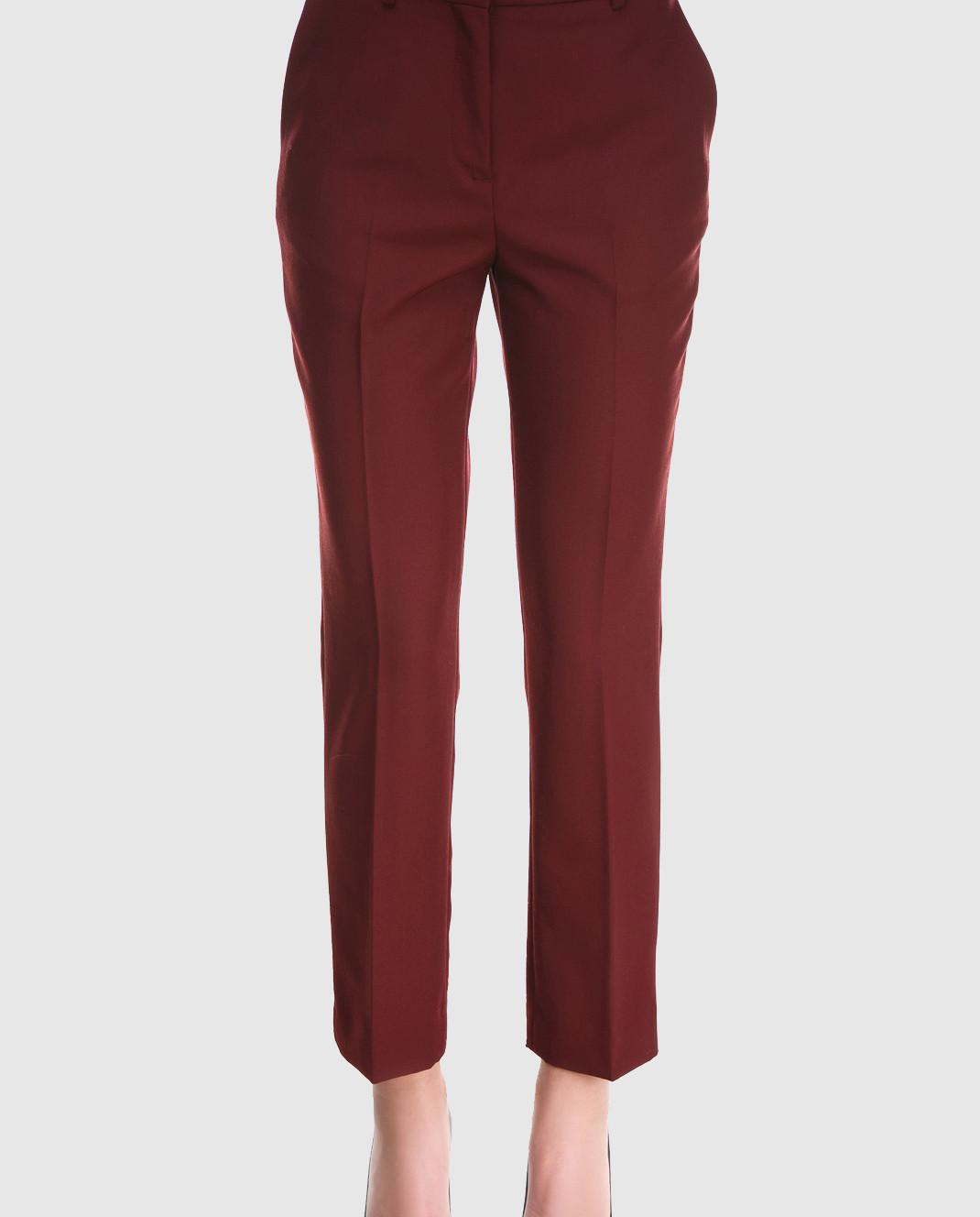 Victoria by Victoria Beckham Бордовые брюки из шерсти TRVV085B изображение 4