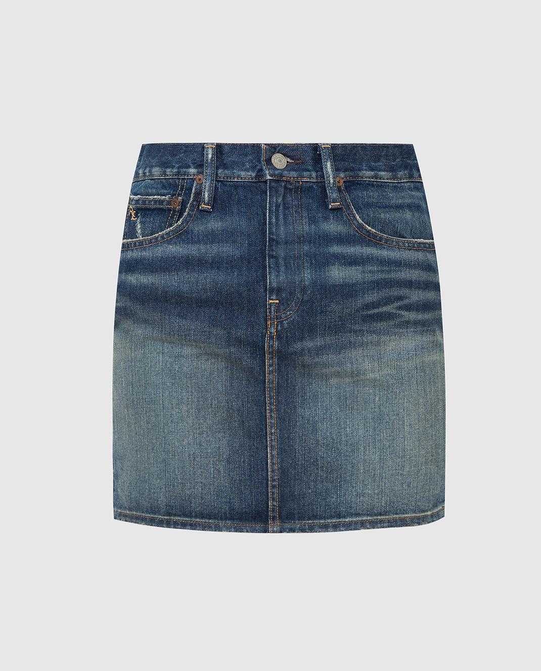Ralph Lauren Синяя джинсовая юбка V60IH924