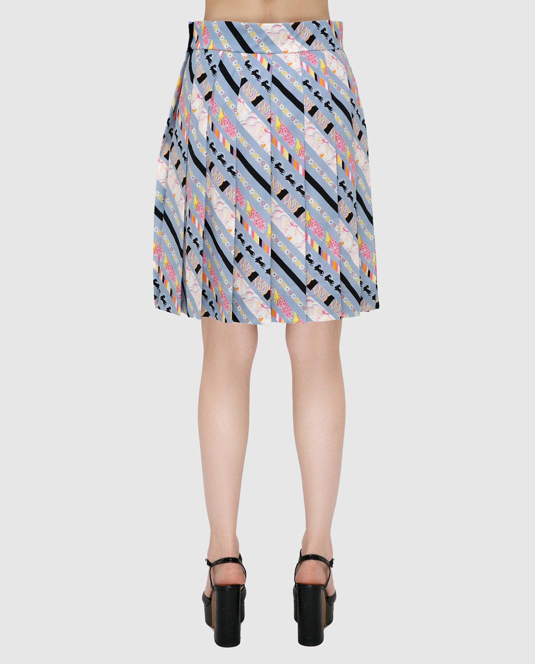 Marc Jacobs Голубая юбка из шелка изображение 4