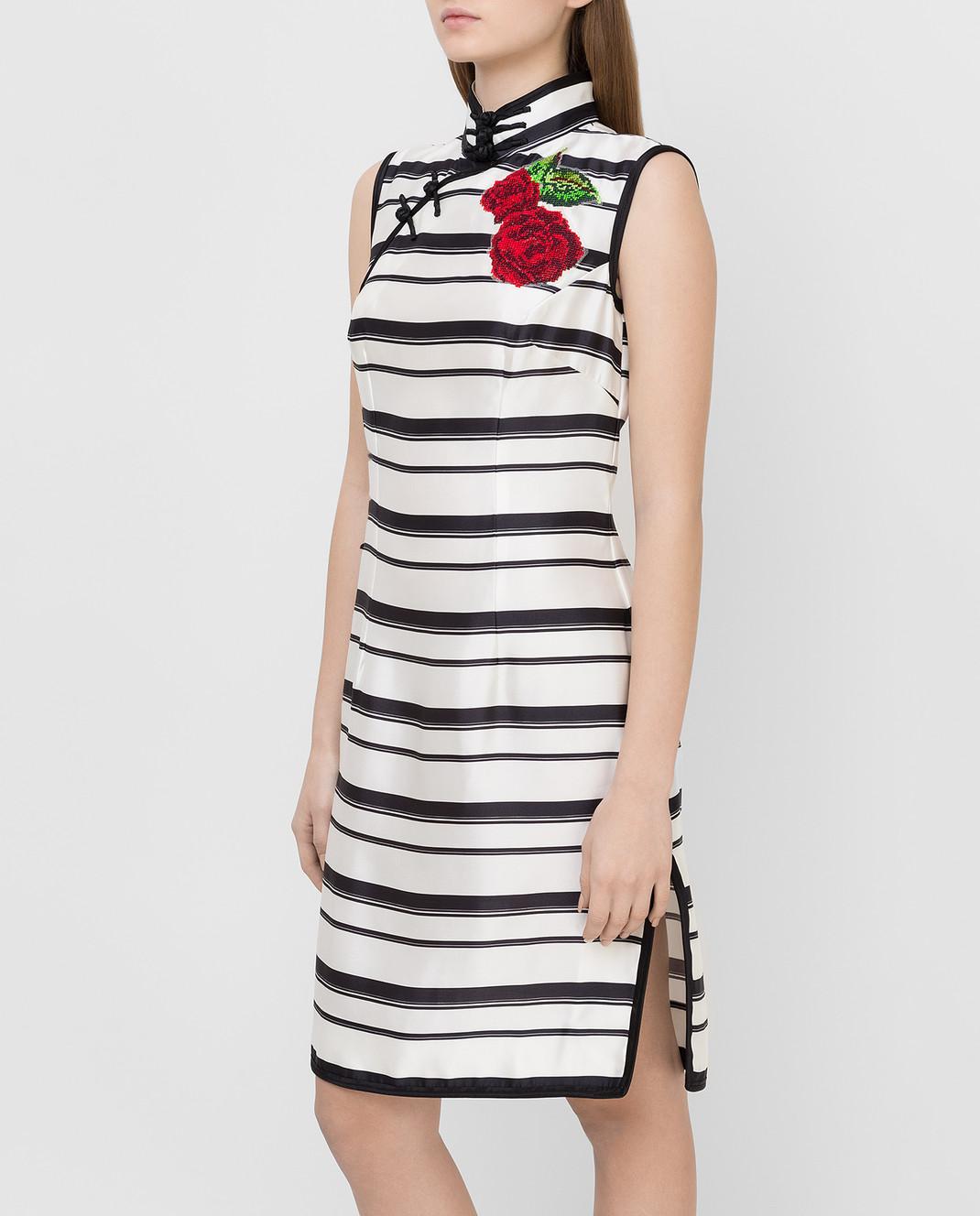 Dolce&Gabbana Белое платье из шелка F6XG7ZHS1D0 изображение 3