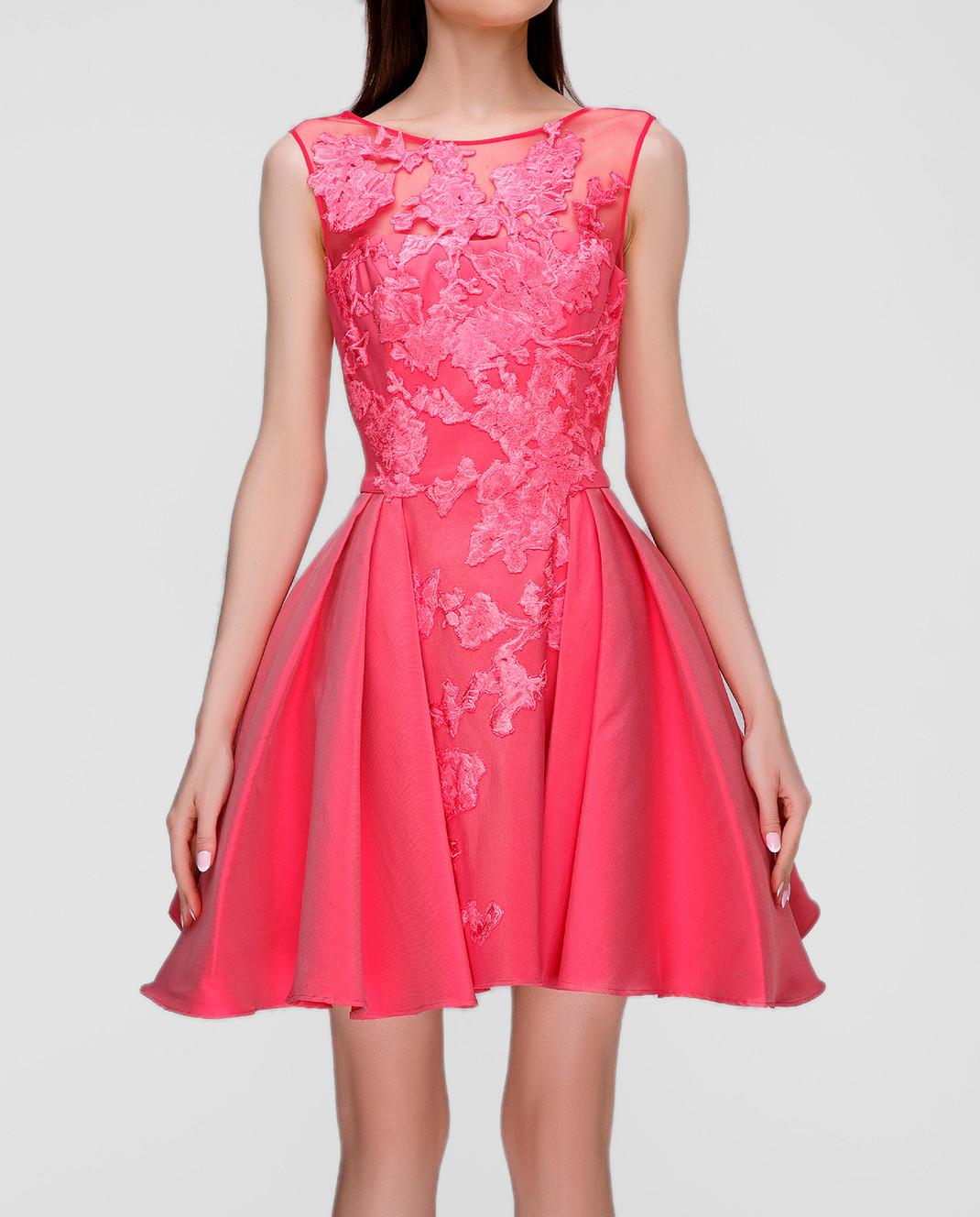Zuhair Murad Розовое платье RDRS16047DS00 изображение 3