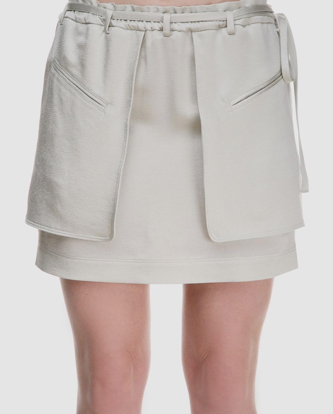 Valentino Светло-зеленая юбка PB0RA3K53H3 изображение 4