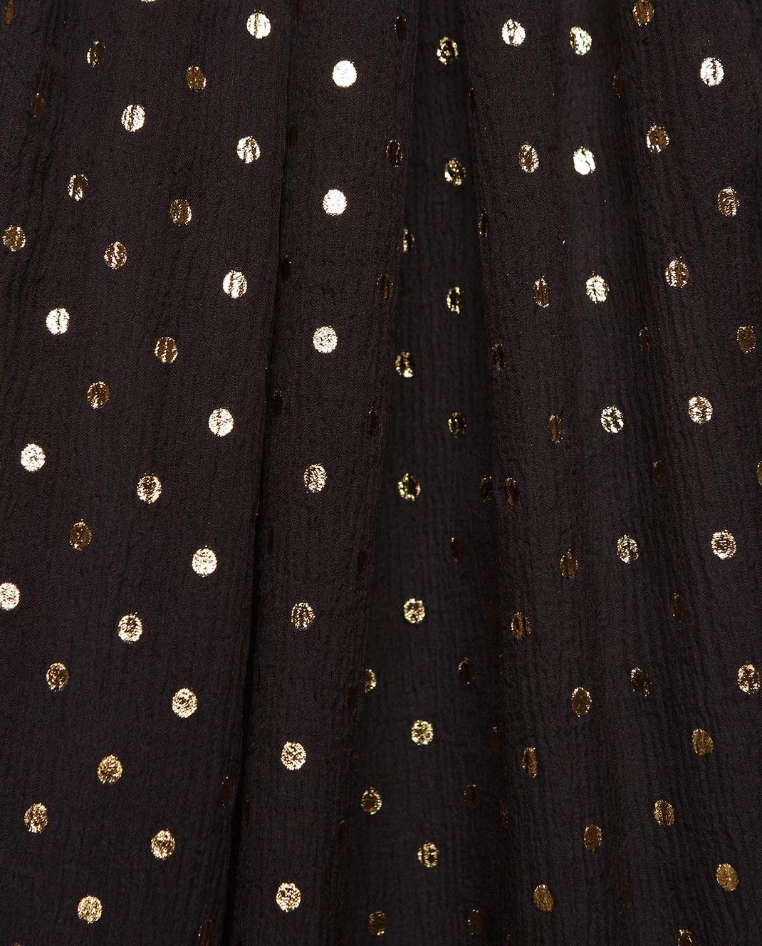 Redemption Черная блуза из шелка 1810RC03TS87 изображение 5