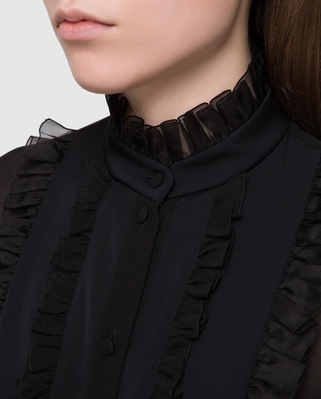 Dolce&Gabbana Черная блуза F5K14TFU1AR изображение 5